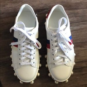 Gucci sneakers. Runs big. Fits a size 5.5